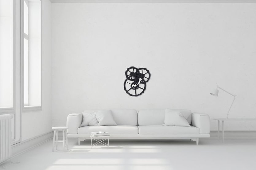 Kikkerland wall triple gear clock