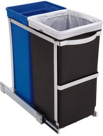 Simplehuman Built-in Pull Out waste bin 20 + 15 liters