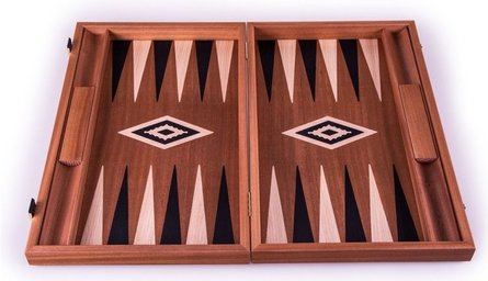 Manopoulos Mahogany Chess & Backgammon