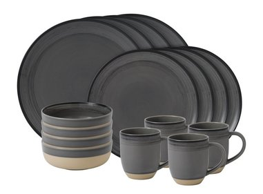 Royal Doulton ED Brushed 16-delige serviesset grijs