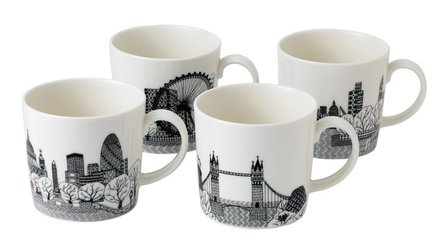 Royal Doulton London Calling mugg 400ml - set med 4