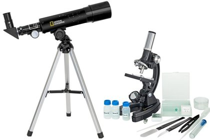 NATIONAL GEOGRAPHIC SET TÉLESCOPE 50/360 + MICROSCOPE 300X-1200X