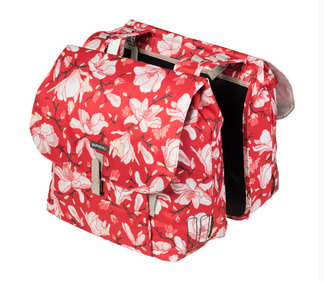 Basil Magnolia double bicycle bag red