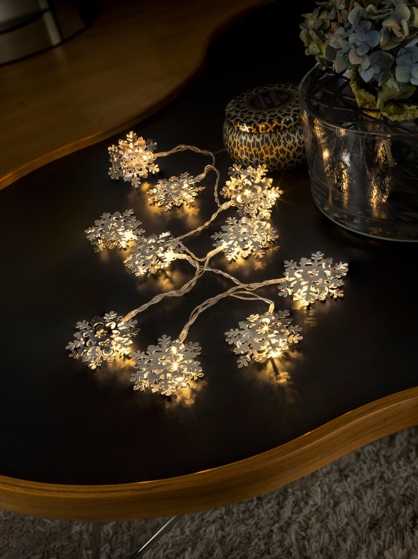Konstsmide LED Decoration light cord snowflakes