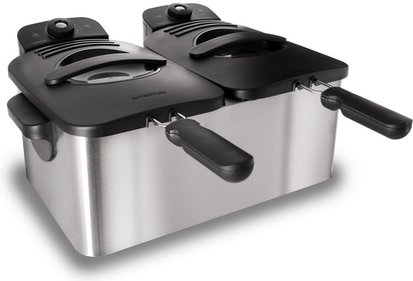 Inventum GF461 double fryer with cold zone