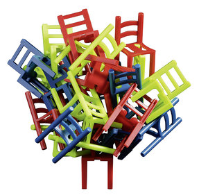 Philos Chair on Chair stacking game 38x38 mm