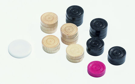 Philos Carrom speelstukken set 31 x 8 mm