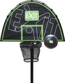 EXIT Trampoline basketball ring with ball