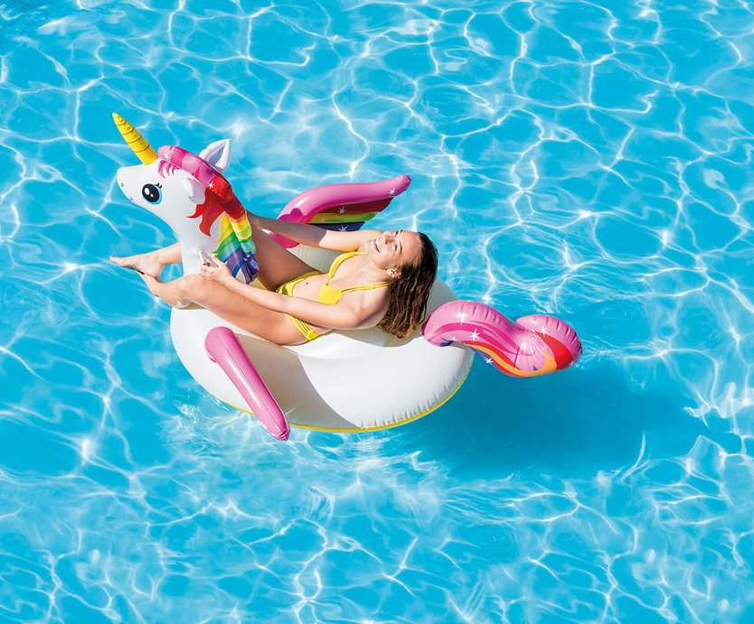 Intex Opblaasbare Unicorn Ride on