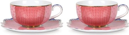 Pip Studio Royal Pink 125 ml espressokop- en schotel - set van 2