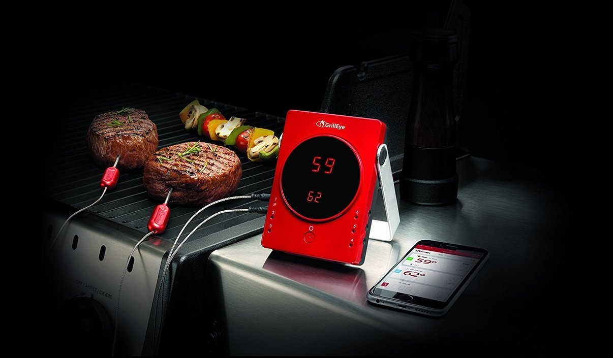 GrillEye Smart Bluetooth Grilling & Smoking Thermometer