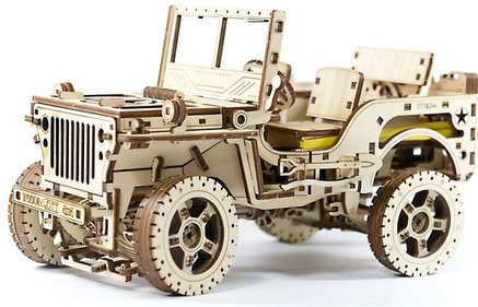 Wooden City 3D 4x4 Jeep puzzel