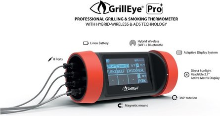 GrillEye Pro + Grilling & Smoking Thermometer