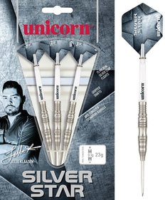 Unicorn Silver Star Jelle Klaasen darts arrow set