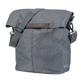 Basil City single bicycle bag gray / black