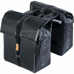 Basil Urban Dry Mik double bicycle bag black