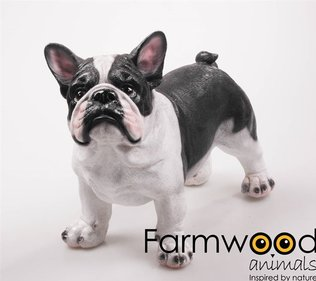 Farmwood Animals Franse Bulldog tuinbeeld