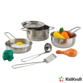 Kidkraft Cookware set with food Deluxe