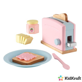 Kidkraft Wooden toy toaster pastel colored