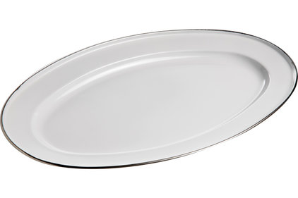 SERVING DISH STAINLESS STEEL OVAL 35CM0.5MM