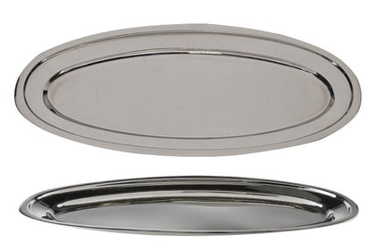 SERVING DISH STAINLESS STEEL OVAL 50CM
