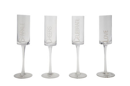 SET 4 CHAMPAGNE GLASSES 7X25CM