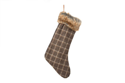 Cosy@home Christmas Stocking with diamond pattern