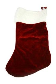 Cosy@home Christmas stocking luxury burgundy velour