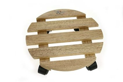 CP COASTER D32X8CM RUNDES HOLZ