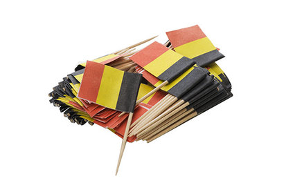 FLAG SPIKER BELGIAN TRI-COLOR 100 PCS