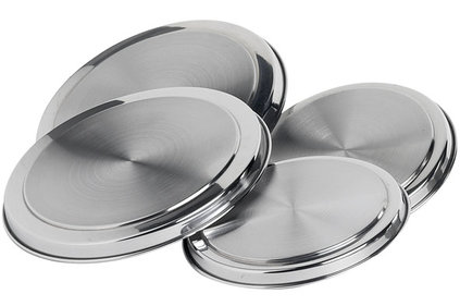 COVER PLATES STAINLESS STEEL SET 4 (2X21.5 & 2X17.5)