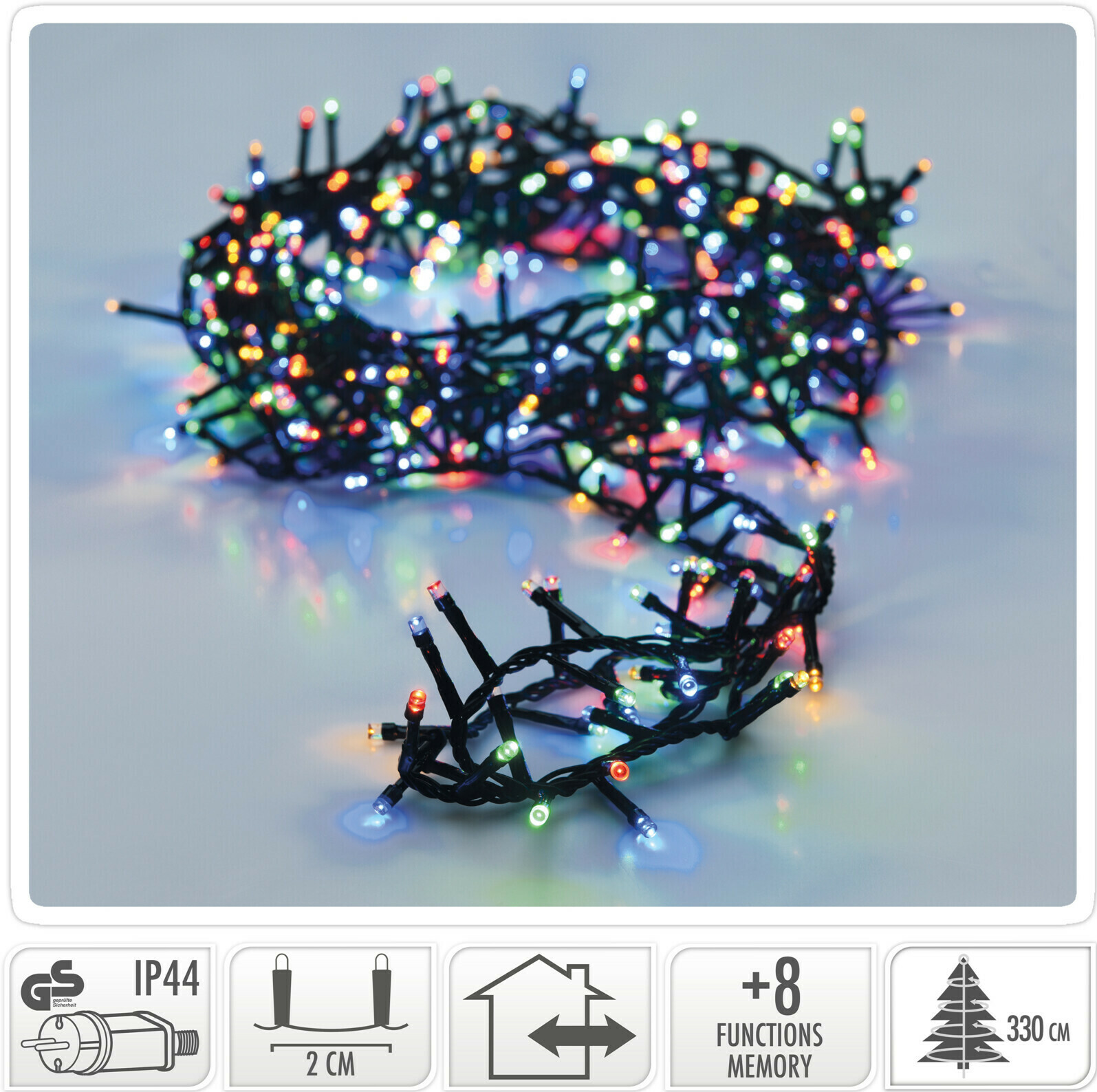Valetti Microcluster 1800LED Multi kerstboomverlichting