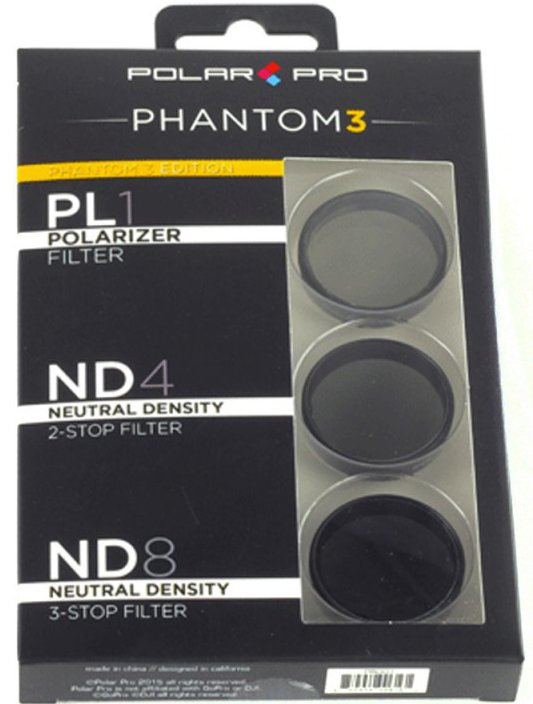 Polar Pro DJI Phantom 3 Filter 3er-Pack