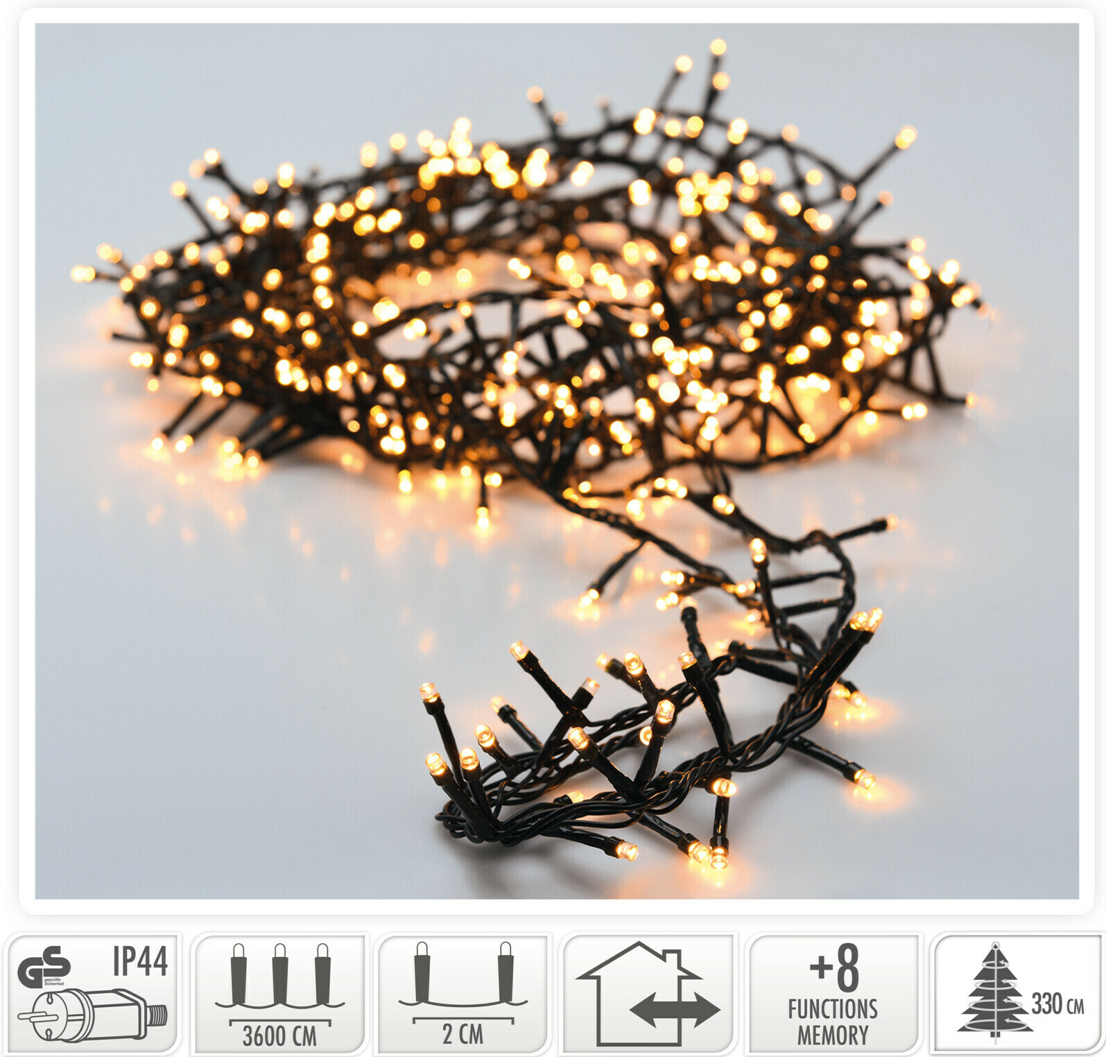 Valetti Microcluster 1800LED Extra kerstboomverlichting
