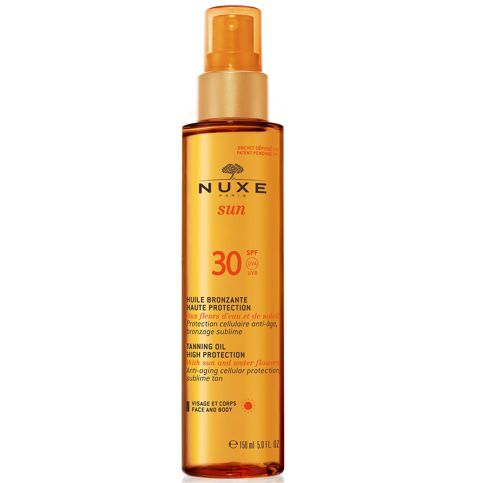Nuxe Sun - Tanning Oil Face and Body 150 ml - SPF 30