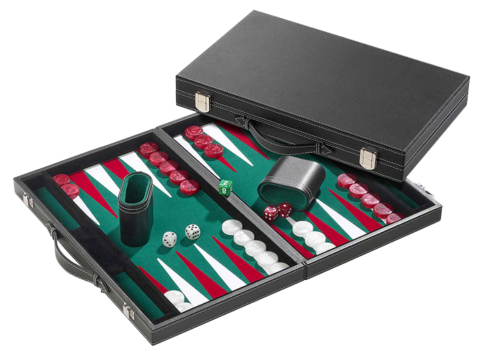 Philos Backgammon groen medium 28x23,5cm