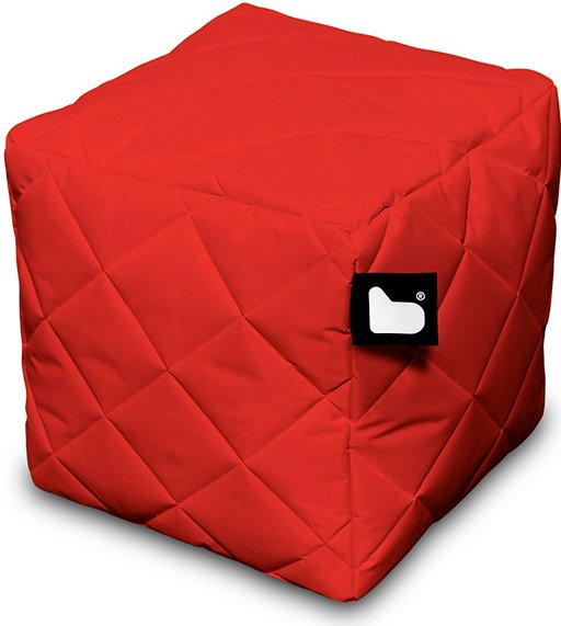 Extreme Lounging B-Box Quilted poef (Kleur: rood)
