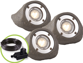 Garden Lights Lapis spot - set van 3 st.