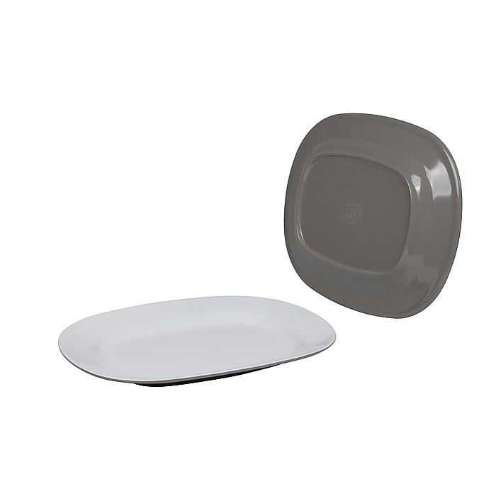 Bo-Camp - Schaal - 100% Melamine - 31x25x3 cm - Two-Tone taupe