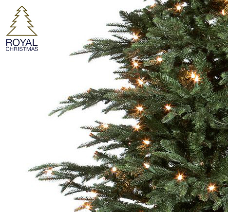 Royal Christmas Delaware Deluxe LED - Fast Build + Foot Switch kunstkerstboom 210