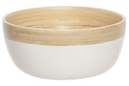 BOWL MAT WIT 15X15XH7CM OVAAL BAMBOE