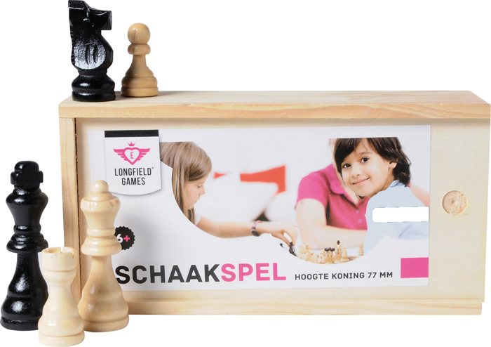 Schaak set in box 77mm Longfield