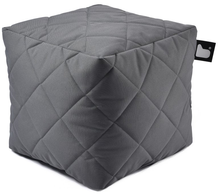 Extreme Lounging B-Box Quilted poef (Kleur: grijs)