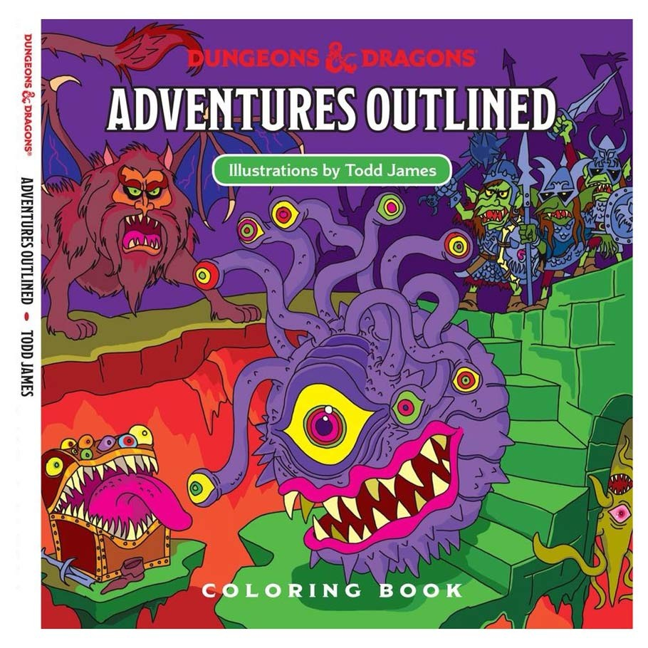 Dungeons & Dragons - Adventure Outlined Coloring book