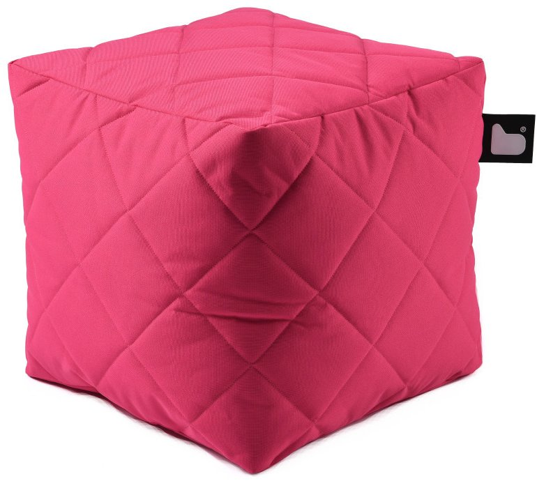 Extreme Lounging B-Box Quilted poef (Kleur: roze)
