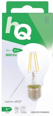 HQ Retro E27-fitting led-filamentlamp