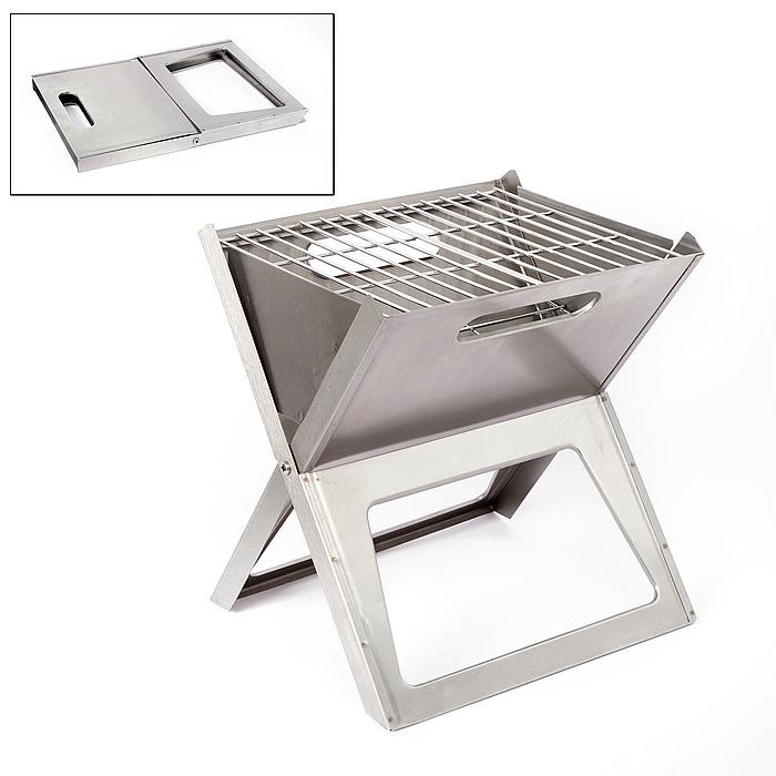 Bo-Camp - Barbecue - Notebook Compact - Houtskool - RVS