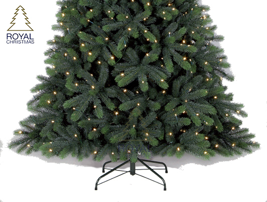 Royal Christmas Hawaii Deluxe 100% PE LED - Fast Build + Foot Switch kunstkerstboom 180
