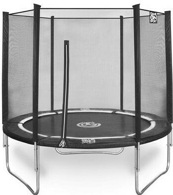 Game On Sport Jump Line 305 schwarz rund Trampolin